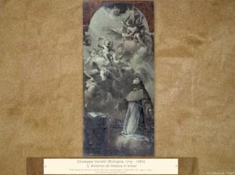 "Giuseppe Varotti (Bologna, 1715 – 1780) | Antonio da Padova in estasi | Olio monocromo su carta nel suo montaggio originale, cm. 49,2 x 23,7. | Sul telaio la scritta ""Varotti"""
