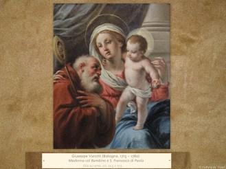 Giuseppe Varotti (Bologna, 1715 – 1780) | Madonna col Bambino e S. Francesco di Paola | Olio su rame, cm. 22,5 x 17,5.