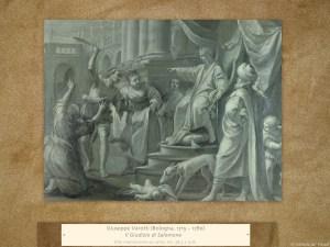 Giuseppe Varotti (Bologna, 1715 – 1780) | Il Giudizio di Salomone | Olio monocromo su carta, cm. 38,3 x 51,6.