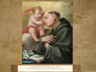 Giuseppe Varotti(Bologna, 1715 – 1780) | Apparizione del Bambino Gesù a Sant'Antonio da Padova | Olio su tela, cm. 50 x 41.