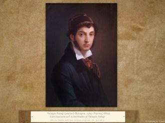 Pelagio Palagi (atelier) (Bologna, 1775 – Torino, 1860) | Esercitazione sull'autoritratto di Pelagio Palagi | Olio su tavola nella sua cornice originale, cm. 39 x 26,5.