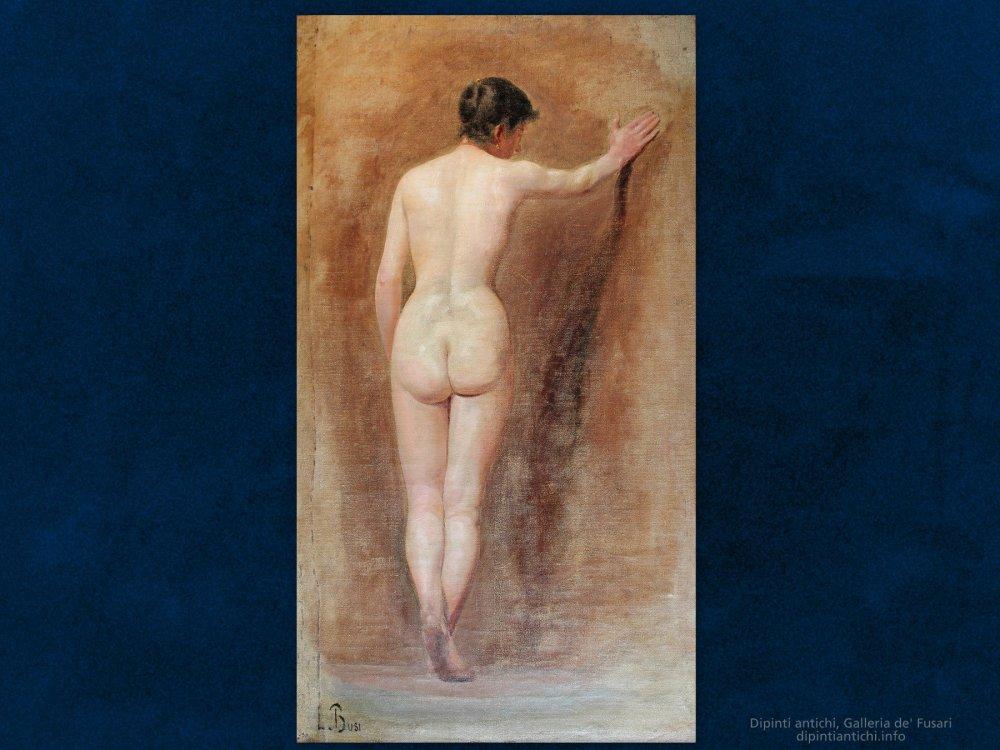 Dipinti antichi | Luigi Busi (1837 - 1884) | Nudo femminile di spalle