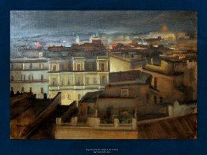 Ajani | Veduta di Roma | Olio su tela, cm. 69 x 100