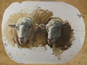 Auguste Bonheur | Studio per due teste di pecora