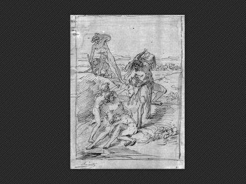 Carlo Arient  , Episodio biblico   Disegno
