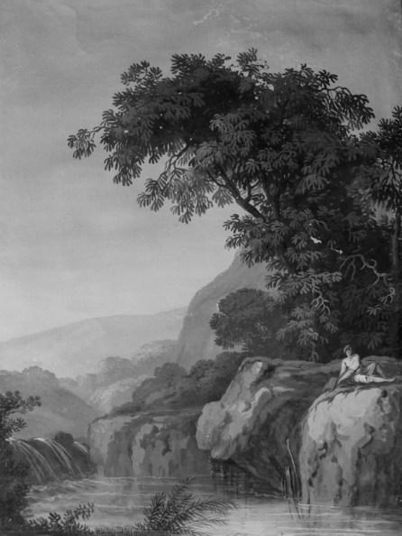 Pietro Piani, Paesaggio con figura