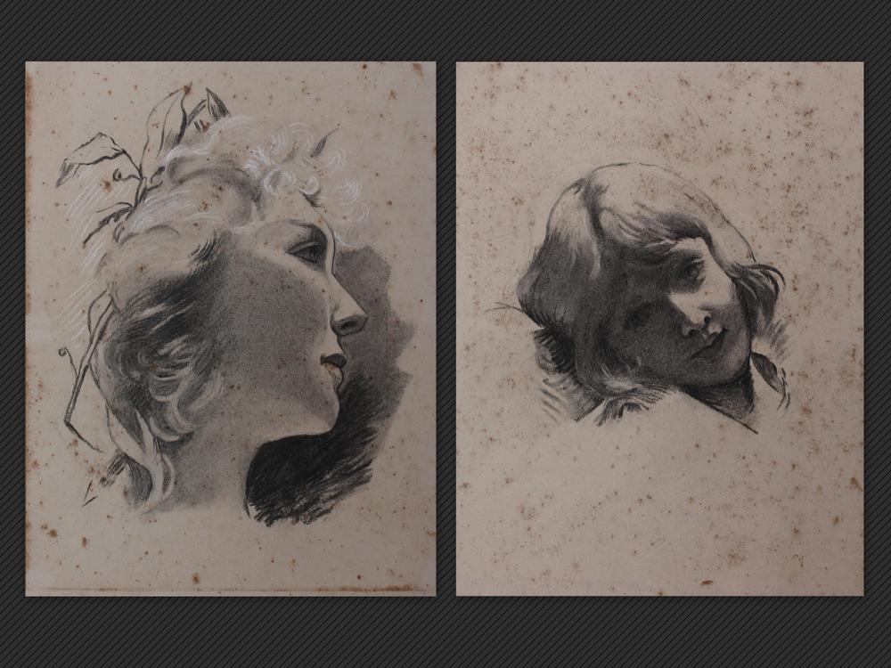 Roberto Franzoni, Due studi a matita, Galleria de' Fusari
