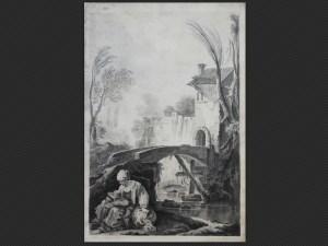 Pietro Giacomo Palmieri | Paesani nei pressi di un mulino