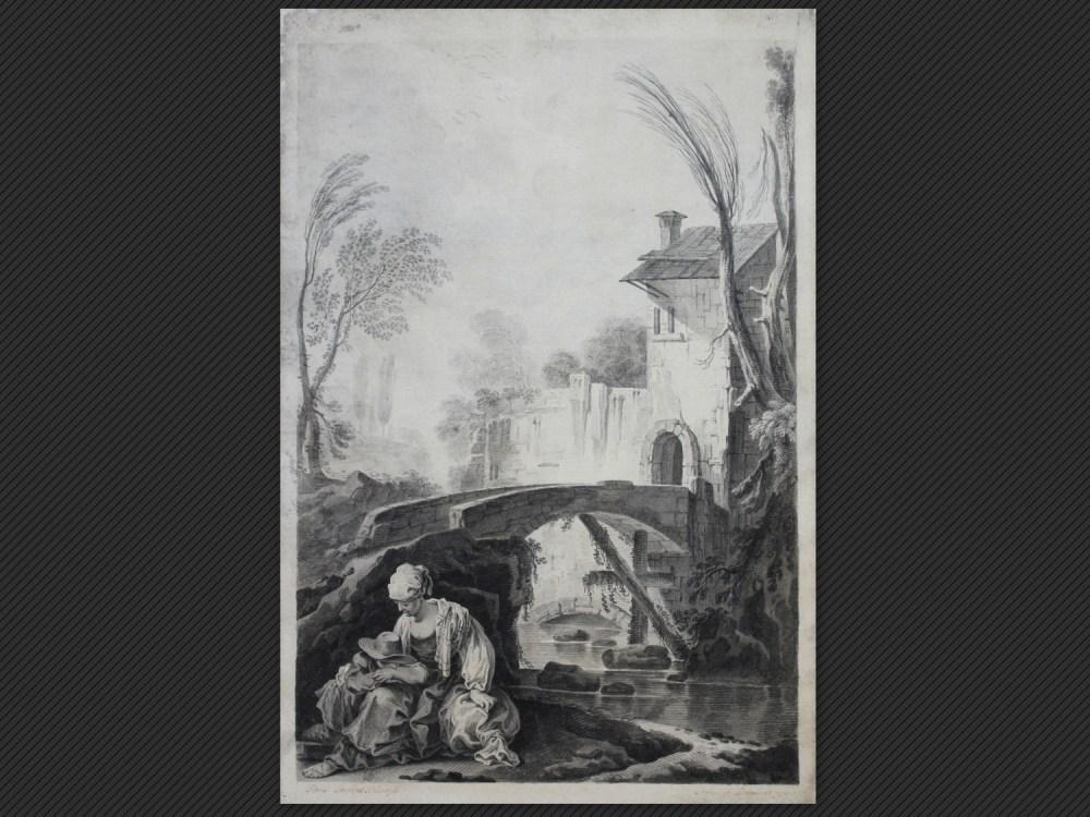Pietro Giacomo Palmieri, Paesani nei pressi di un mulino