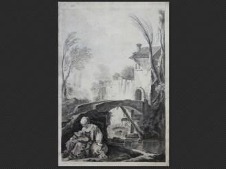 Pietro Giacomo Palmieri   Paesani nei pressi di un mulino