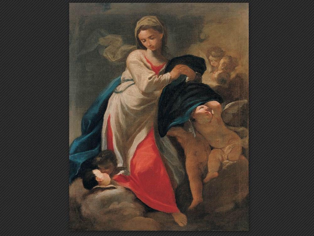 Dipinti antichi   Galleria de' Fusari   Domenico Pedrini, Vergine e angeli