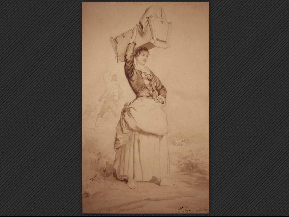 Dipinti antichi | Galleria de' Fusari | Gaetano Ferri, Studio per figura femminile
