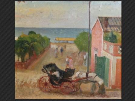Pietro Scapardini, Gabicce (1941) | Olio su cartone pressato, cm. 43 x 48