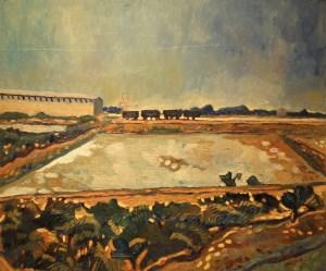 Amedeo Cavani, Le saline di Cervia, Olio su tela, cm 50 x 60
