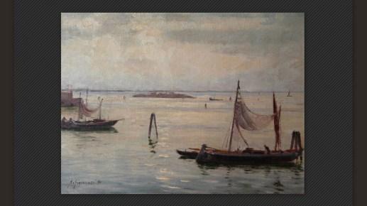 Alberto Giacomazzi - Venezia – Laguna, olio su cartone telato, cm. 30 x 40