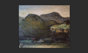 Mario Pozzati - Paesaggio, olio su tela, cm. 43 x 50