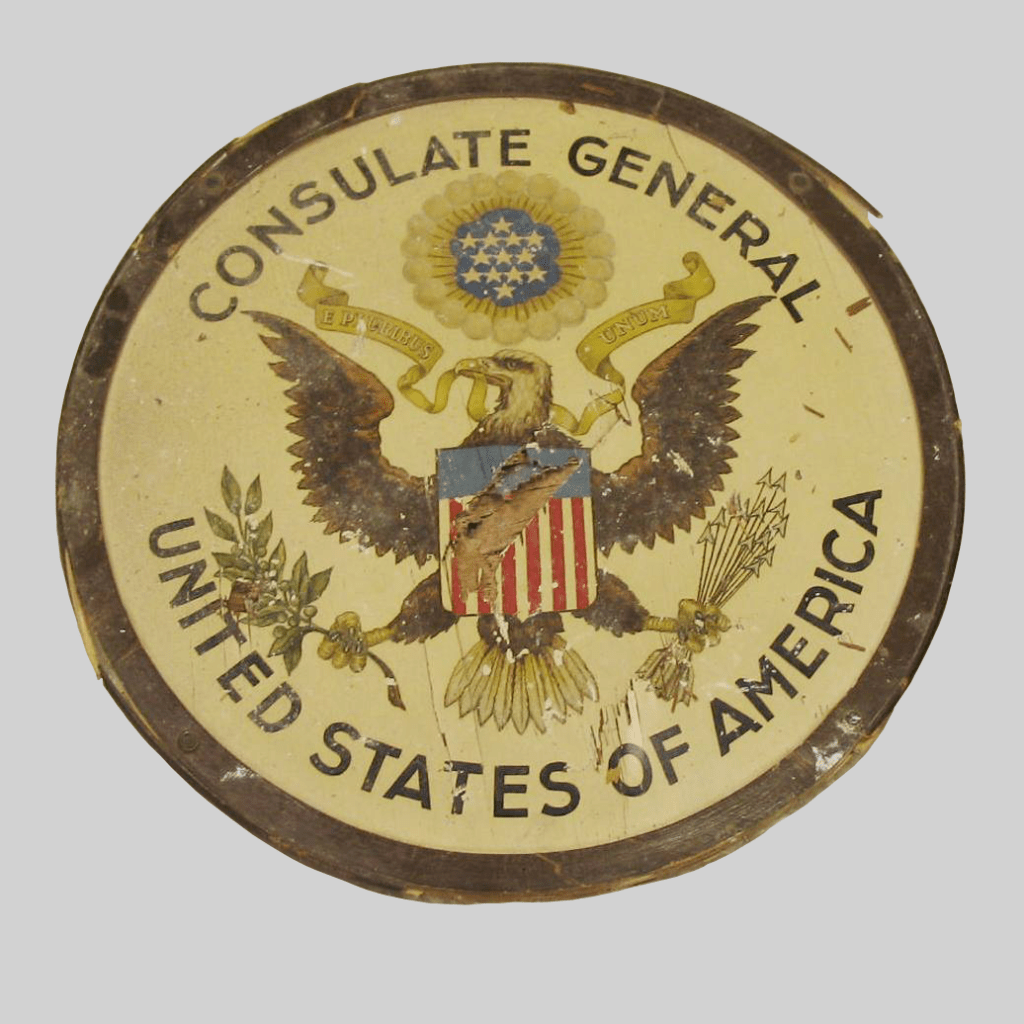 damaged great seal u.s. consulate general barcelona