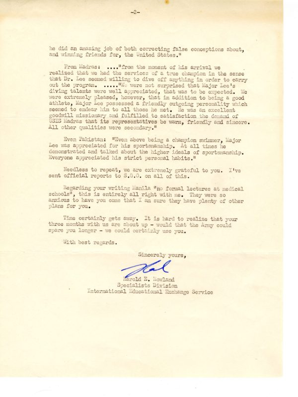 Howland Letter Oct 1954 02 scaled
