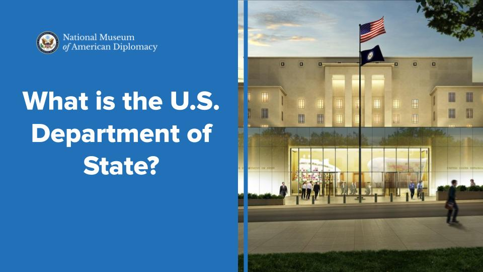 what is the u.s. department of state