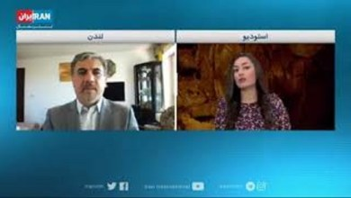 تصویر از مصاحبه با اینترنشنال مورخ ۳۱ جولای ۲۰۲۰ درباره هواپیمایی سرنگون شده