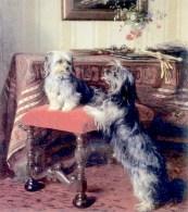 Otto Weber's painting of Queen Victoria's Skye Terriers