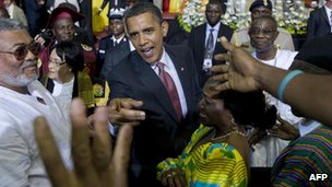 Obama addressed Ghana's parliament on his July 2009 trip to the west African county