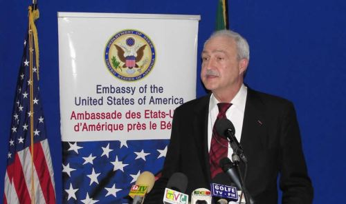 Ambassador James Knight(Photo via US Embassy Cotonou/FB)