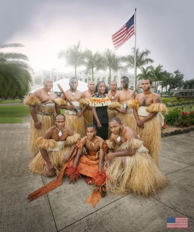 """Ambassador A. Frankie Reed had her farewell ceremony at the Embassy. From everyone here at the Embassy we wish her all the best and a """"Va nuinui vinaka e na nomu lesu tale i America"""" (photo from US Embassy Fiji/FB)"""