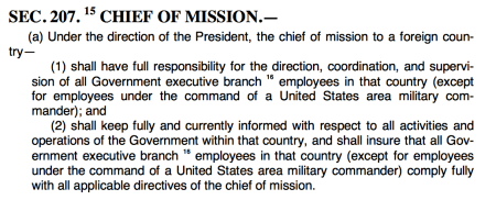 excerpt from Foreign Service Act of 1980