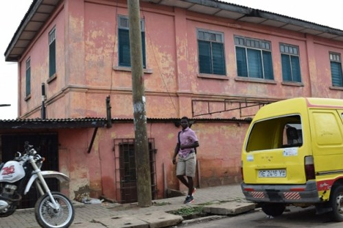 The exterior of the fake embassy in Accra, Ghana. (U.S. Department of State photo)