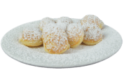Poffertjes with powdered sugar