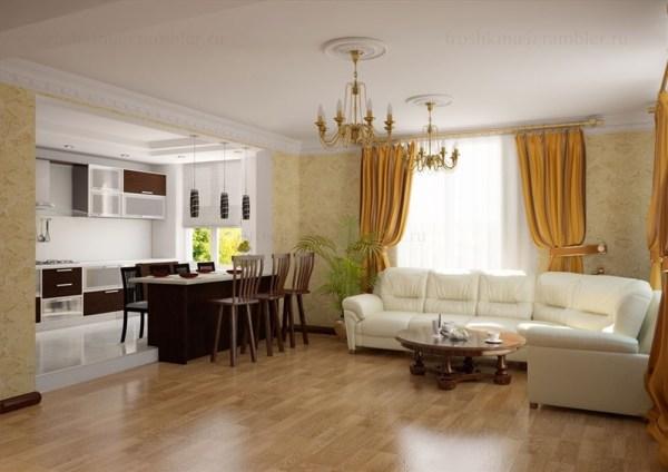 Дизайн кухни-гостиной в частном доме: фото | Dipris-studio