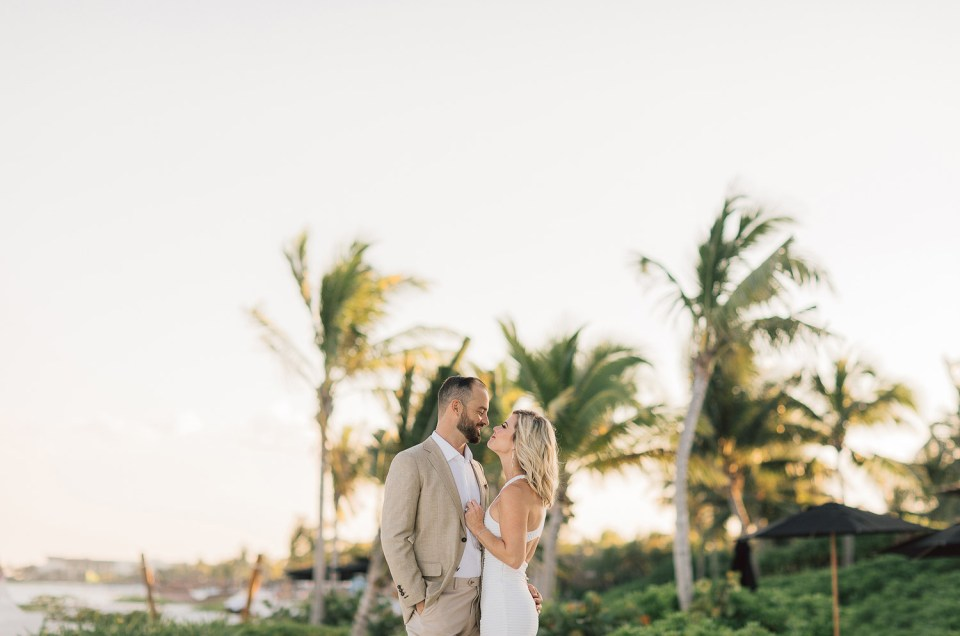 Engagement session in Rosewood Mayakoba