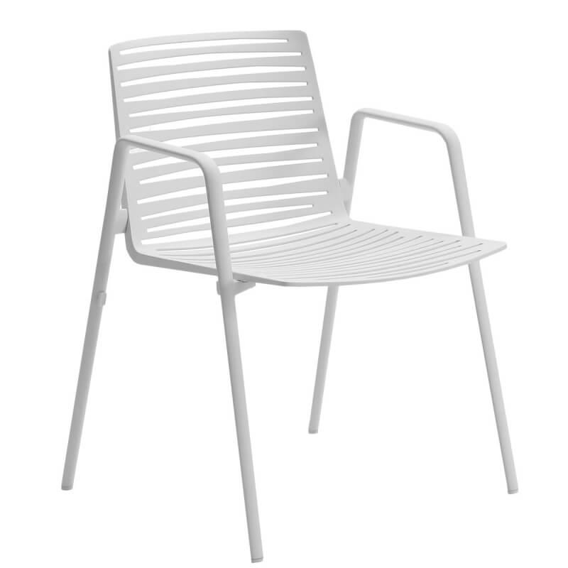 zebra chaise a accoudoirs en aluminium de fast
