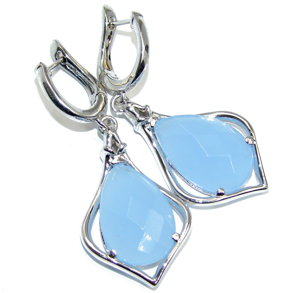 River Secret Blue Lace Agate Sterling Silver earrings