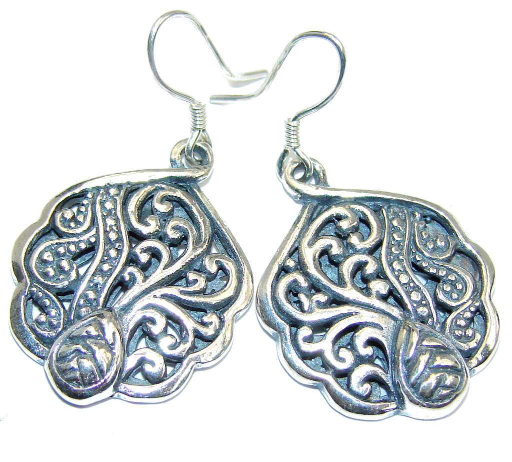 Indonesian Beauty handcrafted Sterling Silver earrings