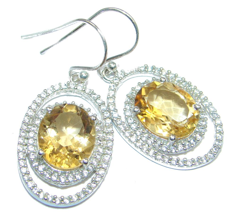 Simple Citrine Sterling Silver earrings