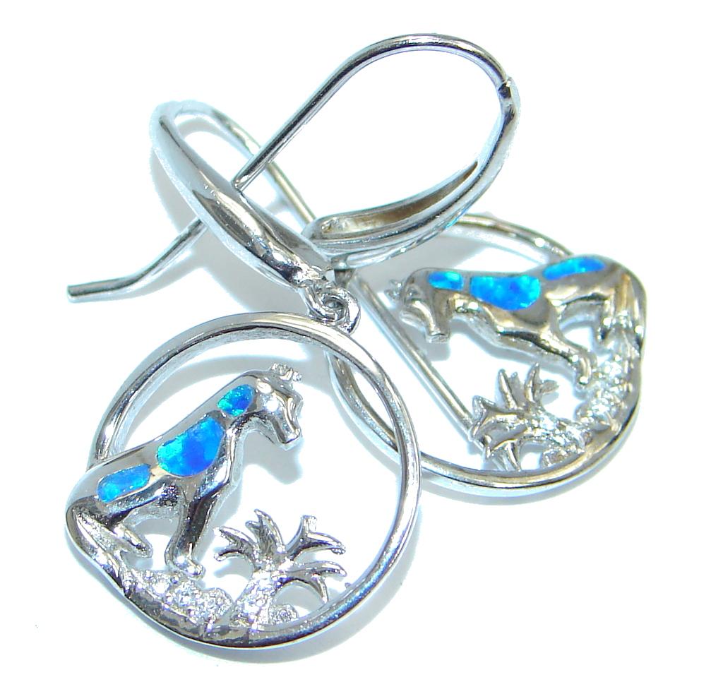 Exclusive Japanese Fire Opal Sterling Silver earrings