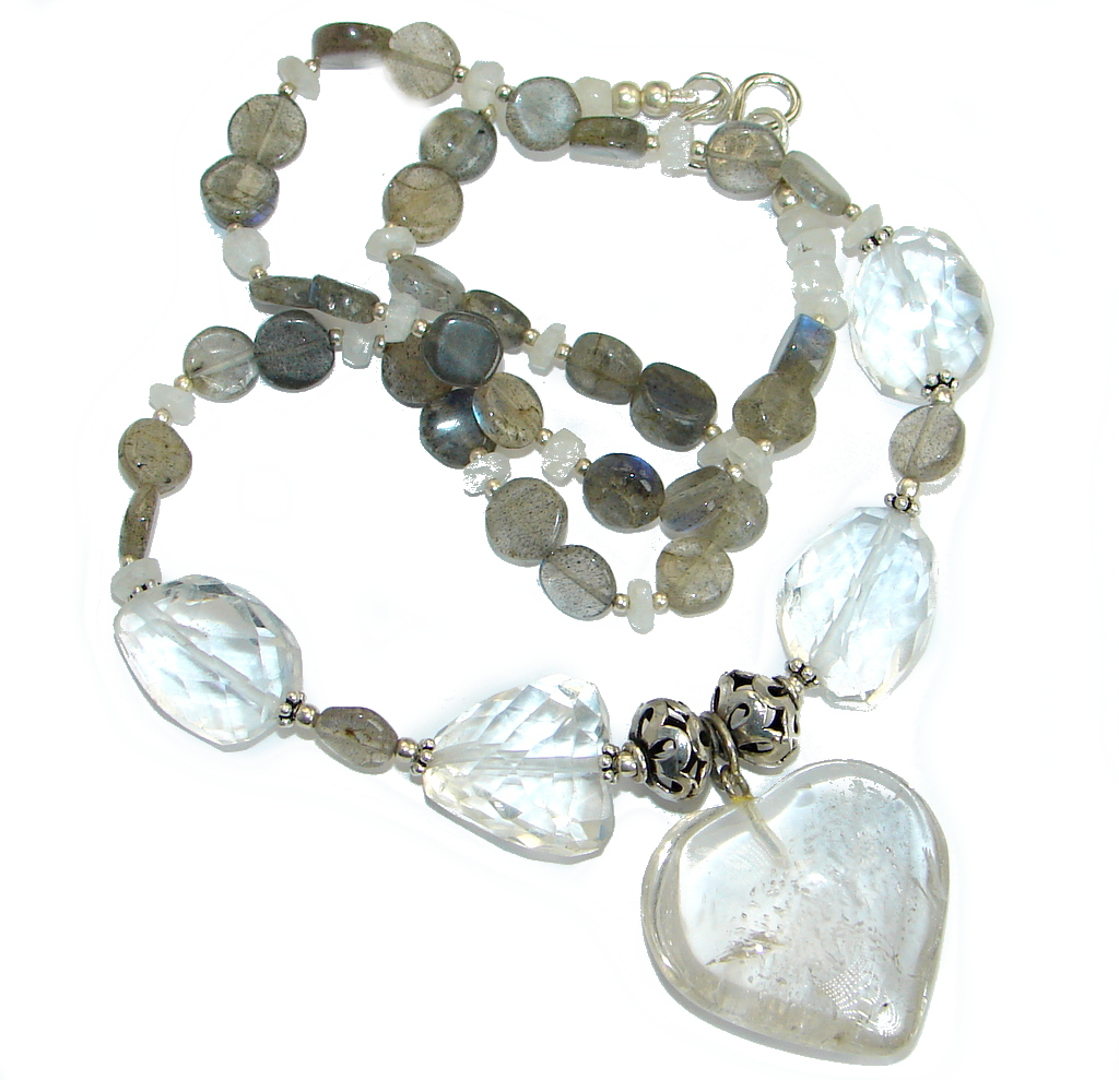 f467bab66 White Mountain Crystal Labradorite .925 Sterling Silver handcrafted necklace