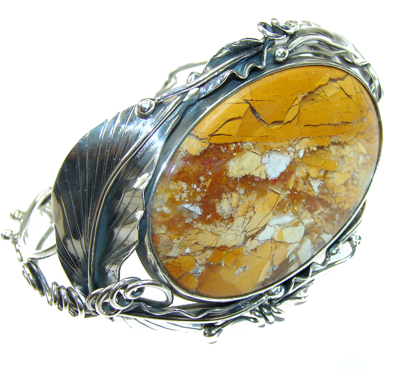 Glistening Sun genuine Australian Mookaite  .925 Sterling Silver handcrafted Bracelet