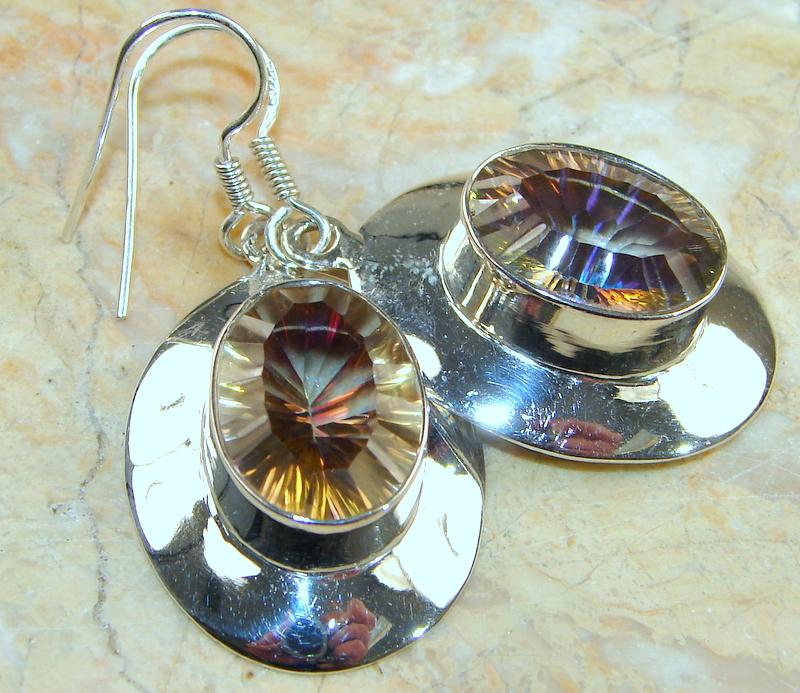 Galaxy Honey Topaz Sterling Silver earrings