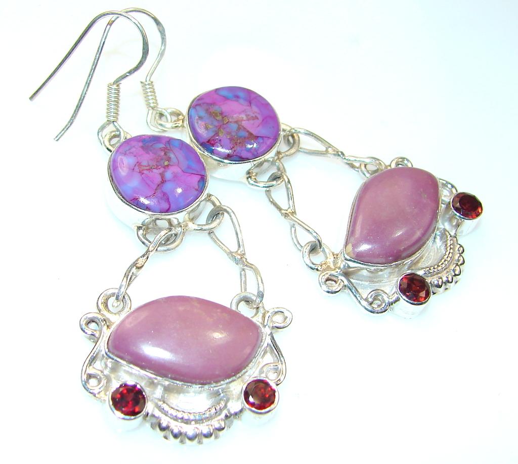 Divine Sugalite Sterling Silver earrings