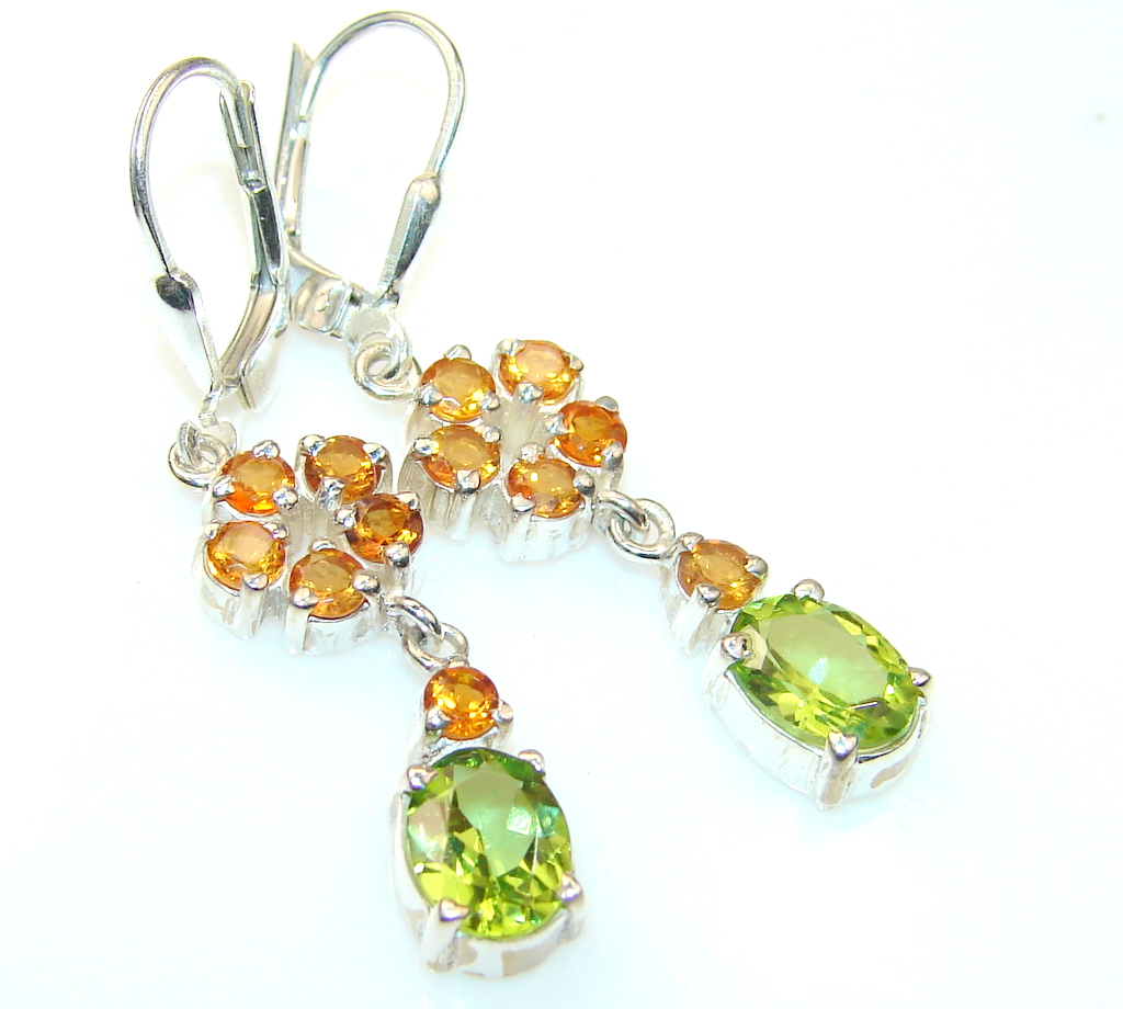 Classy Lady Honey Topaz Sterling Silver earrings