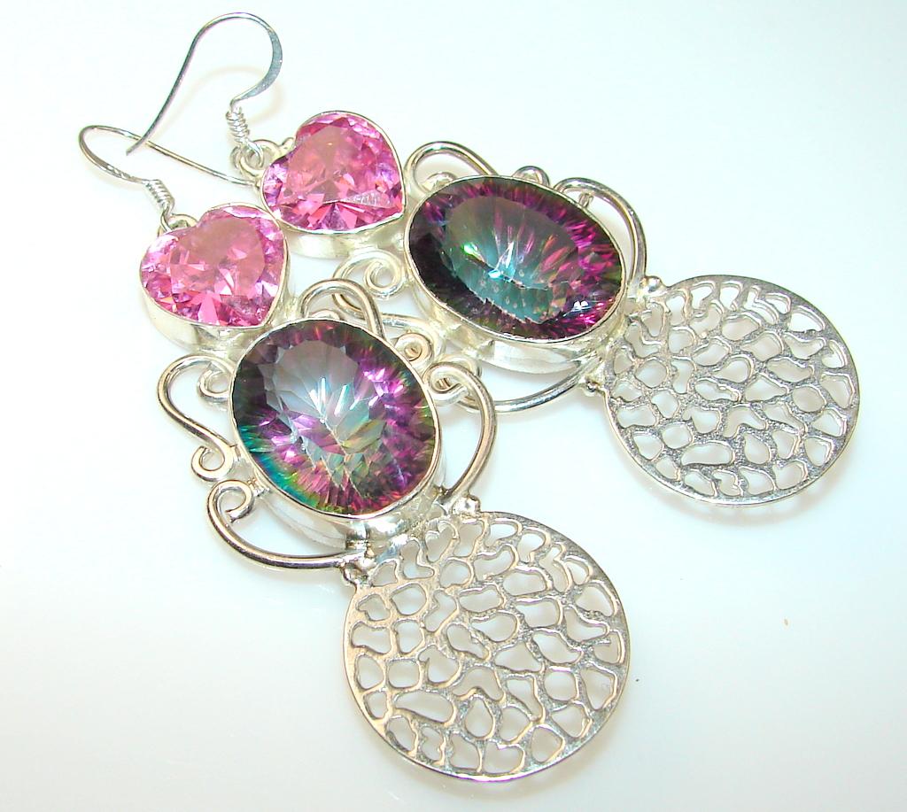 Jumbo!! Paradise Magic Topaz Sterling Silver earrings