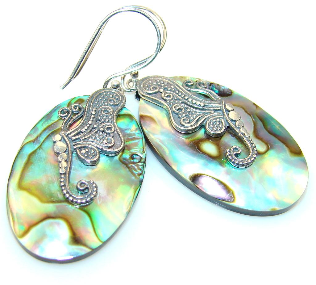 Dream Rainbow Abalone Sterling Silver earrings
