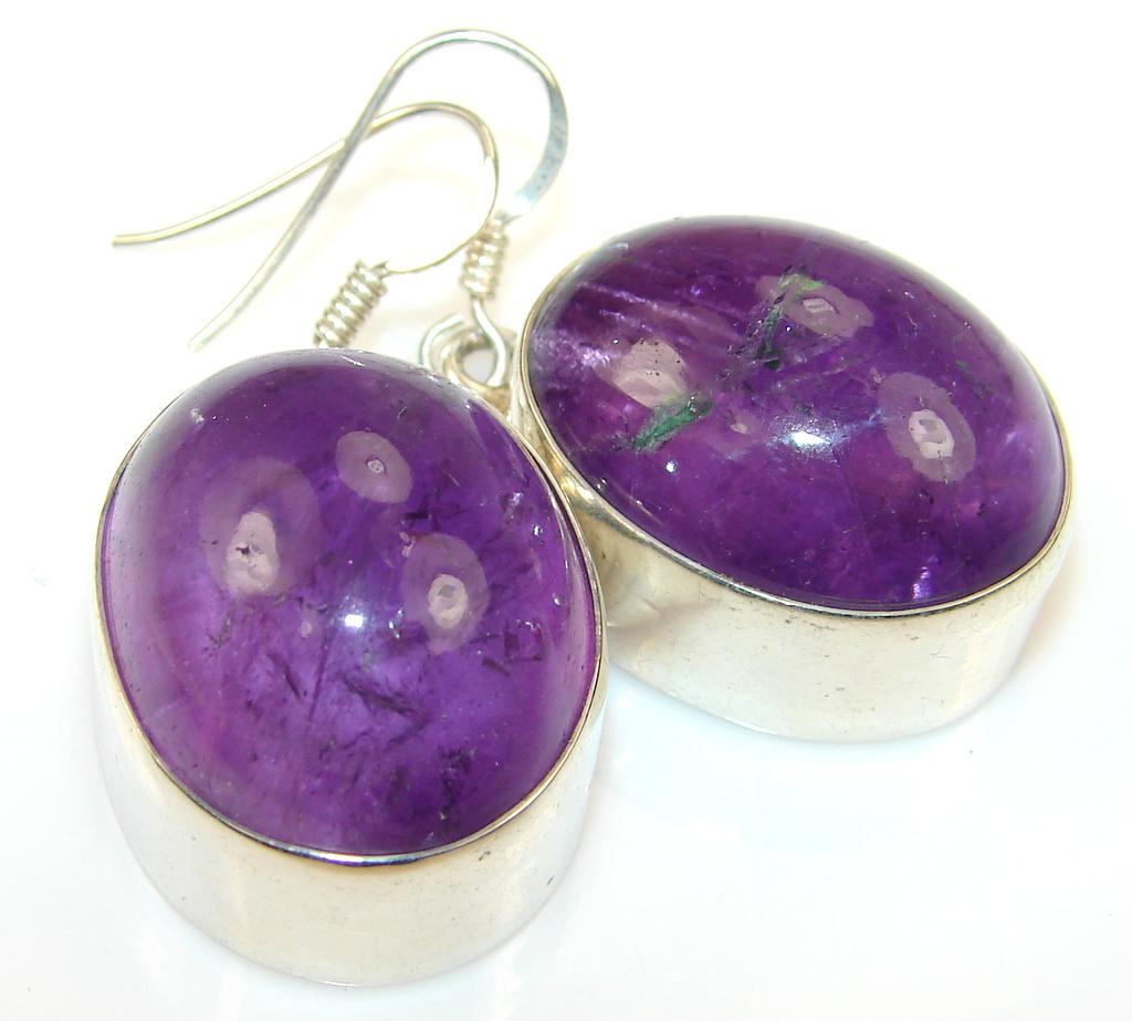 Design Purple Amethyst Sterling Silver earrings