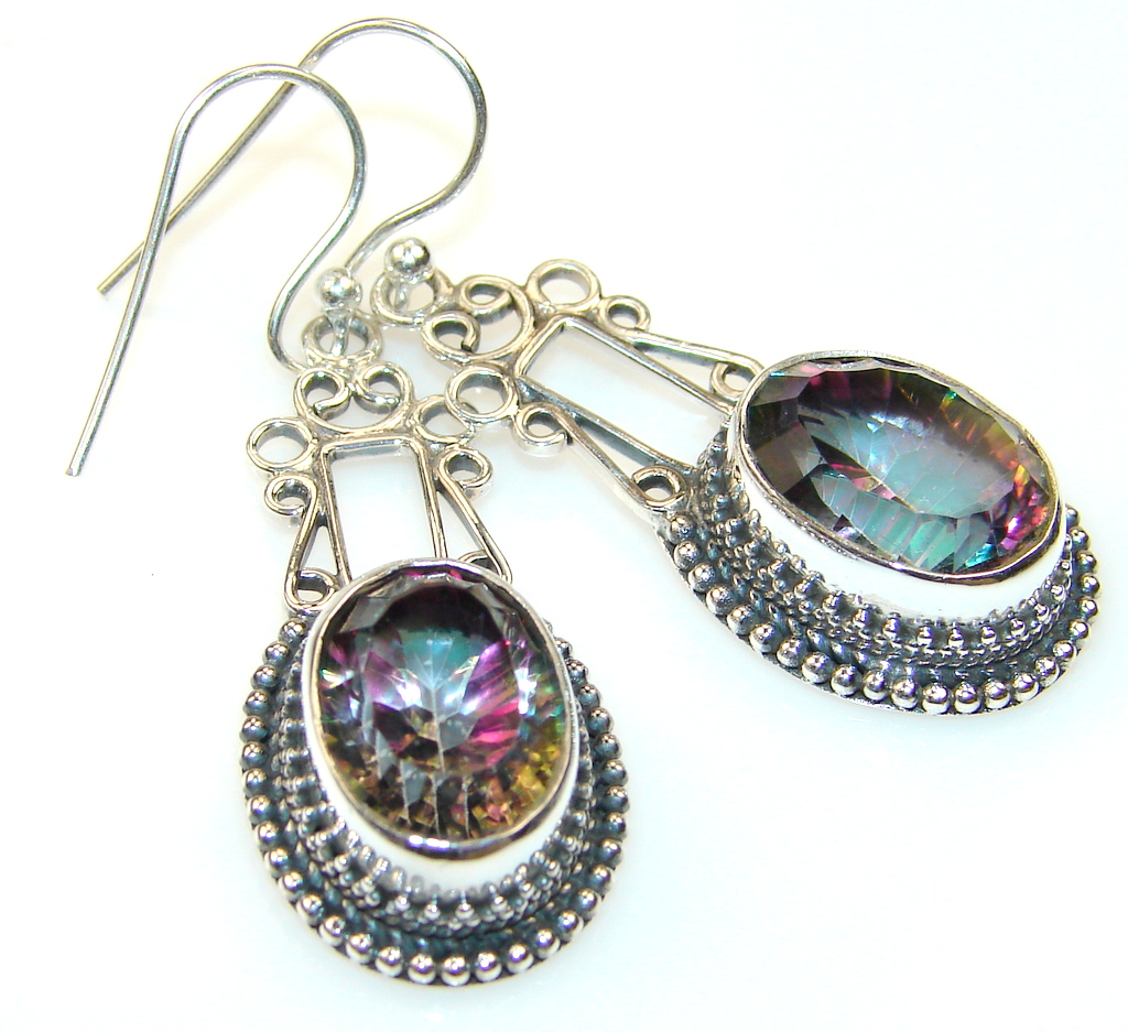 Floral Reigh Magic Topaz Sterling Silver earrings