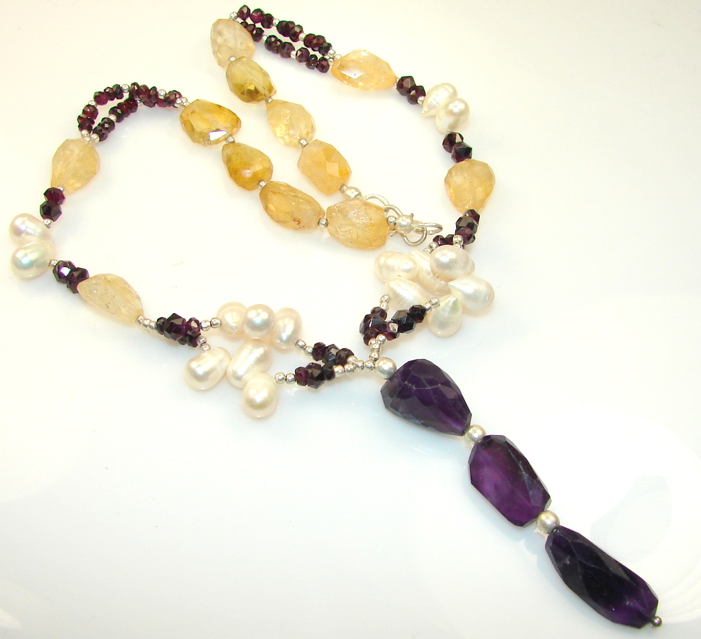 Afternoon Lilac Amethyst Sterling Silver necklace