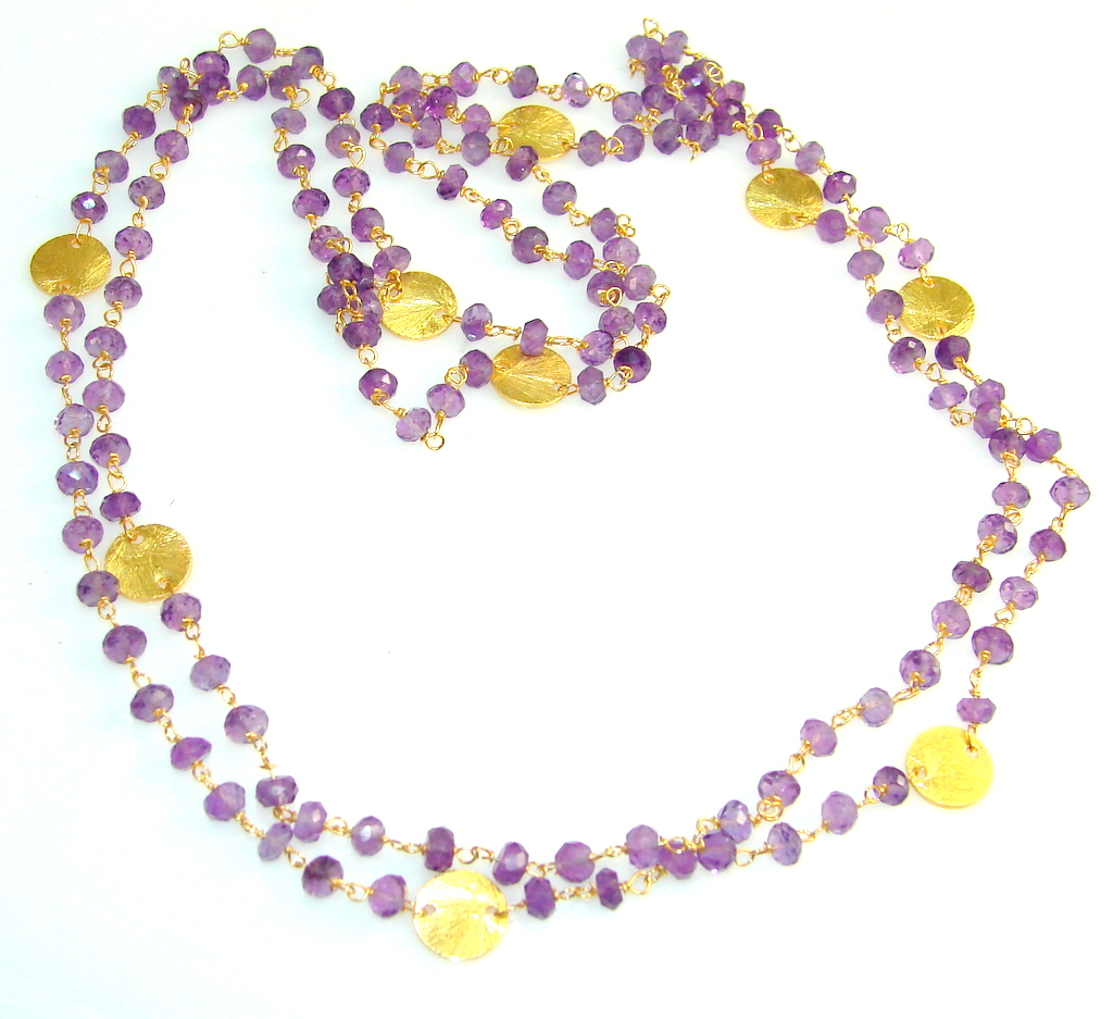 Amazing Amethyst Sterling Silver necklace