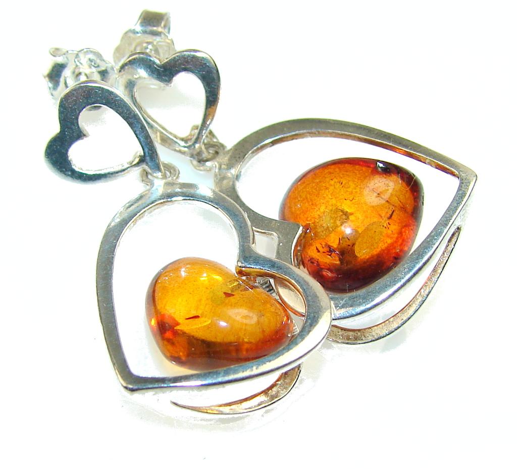 My Sweet Polish Amber Sterling Silver earrings